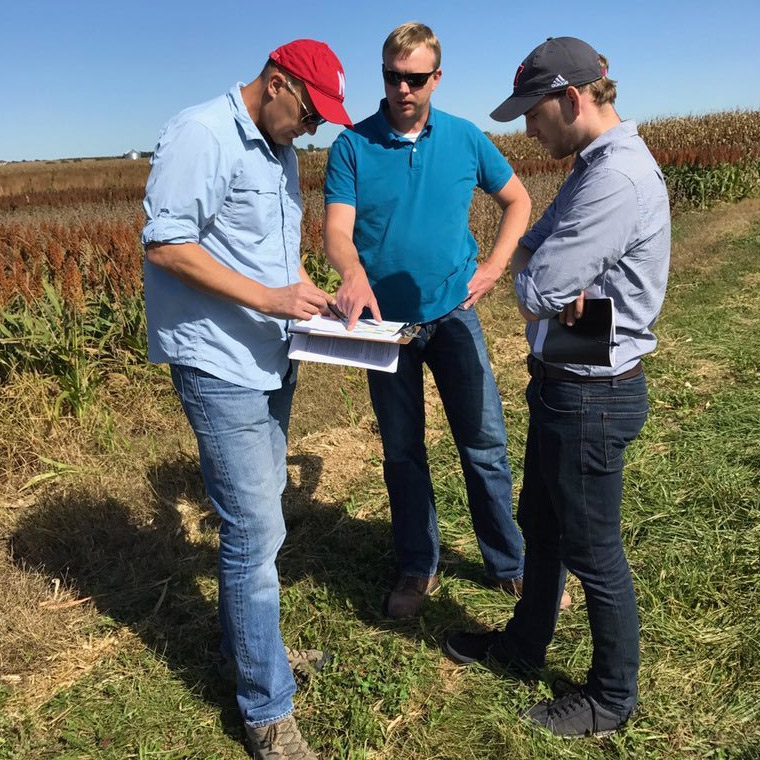 Dr. Alfano and others in field